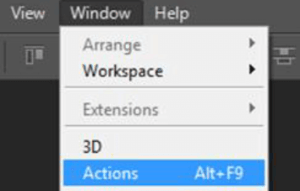 How to install load Photoshop Action step 3